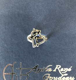 AG1010SS Cross My Heart Ring Size 7