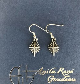 AG1119 Bright Morning Star Dangle Earrings SS