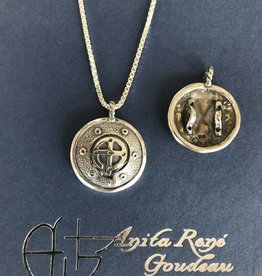 "AG1327 Armor Bearer Necklace SS 20"" Box Chain"