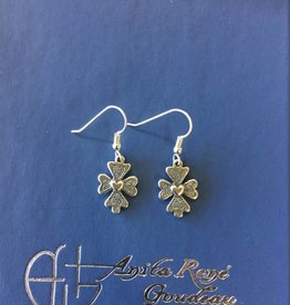 AG2053er Steadfast Heart Dangle Earrings