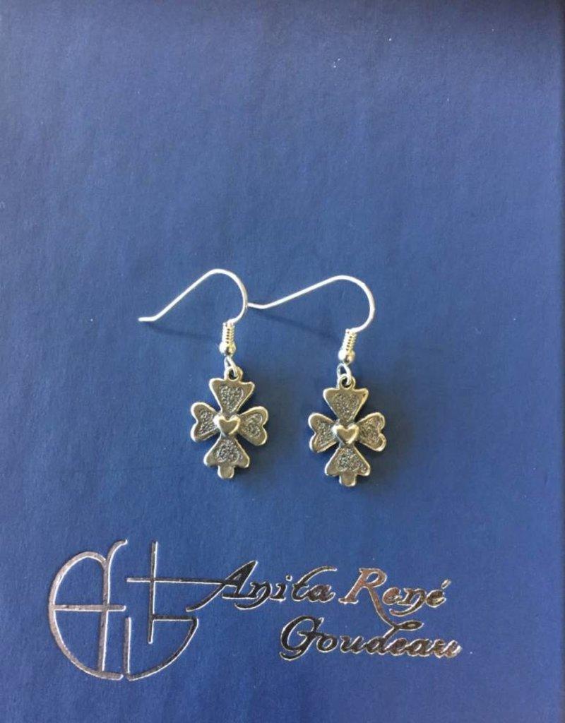 AG2053er Steadfast Heart Dangle Earrings