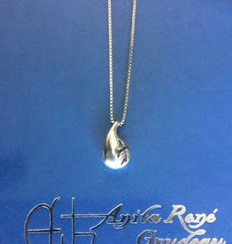 "AG1071 Watermark Necklace SS 20"" Box Chain"