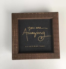 You Are Amazing Framed Board 5x5
