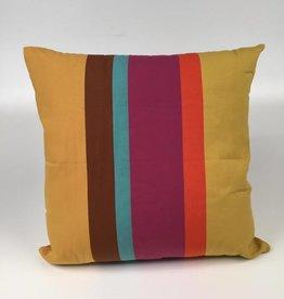 CF182CL 24x24 Pillow Euro - Cafe Soleil Stripe