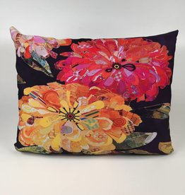 FVFBHP 19x24 Pillow - Floral Black