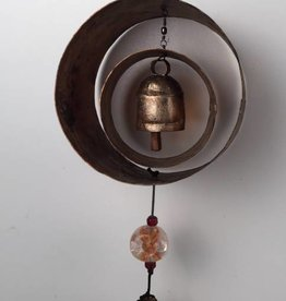 MK-JM-83 The Double Dip Chime With Copper, Beads, and Bell