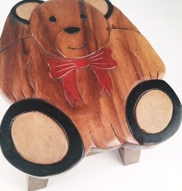 Wooden Teddy Bear Stool