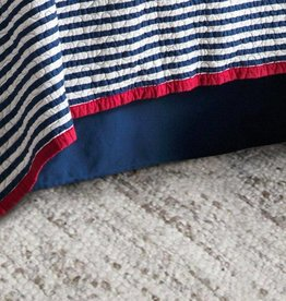 Canvas Bedskirt, Queen Navy