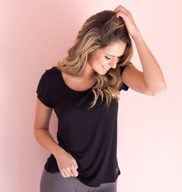 V Neck Nightshirt Black-