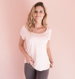 Blush Pink V Neck Nighshirt-