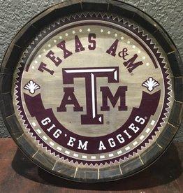 Texas AM Barrel Sign