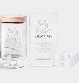 Gratitude Baby Wishes Glass Jar