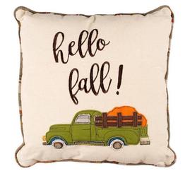 Hello Fall Truck Pillow