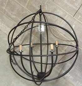 LOS CHILES IMPORTS Black 4 Light Sphere Light Fixture
