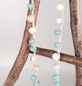 Matte Beaded Necklace Set-