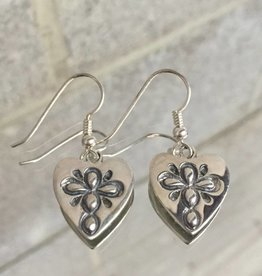 AG1077 Teacher's Heart Dangle Earrings SS