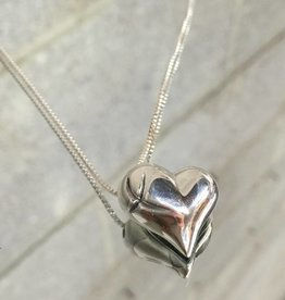 AG2154ph You Are The Best Puff Heart Necklace SS