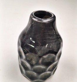 """3.5"""" Embossed Terracotta Vases-"""