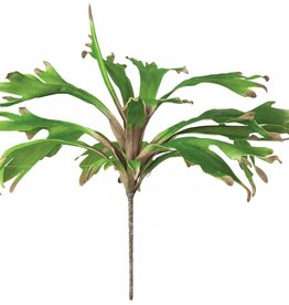 Botanica #724 Long Thick and Wavy Green Leaves with Brown Tip
