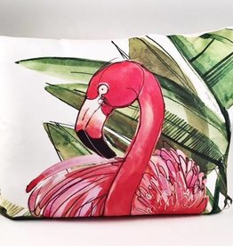 Flamingo Pink Pillow 19x24