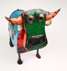Mini Colorful Metal Cow