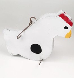 White Chicken Bird House