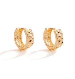 Splendid Iris Huggie Earrings-