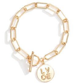Splendid Iris Bracelet Chain w/ toggle closure-