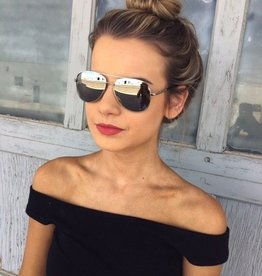Medium Mirror Aviators With Silver Rim