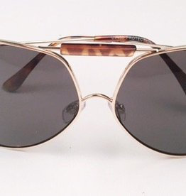 Brown Aviators With Gold Rim