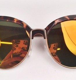 Orange Round Lenses With Tortoise/Gold Frame