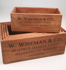 Willow Group Rect. Wood Crates -