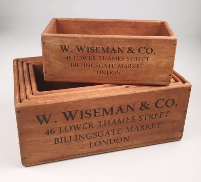 Rectangle Wooden Crates Wow Warehouse