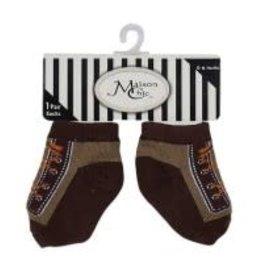 Maison Chic Brown Sneaker Socks