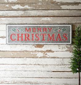 KALALOU Painted Metal Merry Christmas Sign