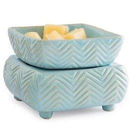Ceramic Warmer & Dish- Chevron