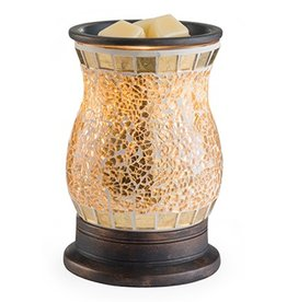 Glass Mosaic Illumination Fragrance Warmer Gilded Glass
