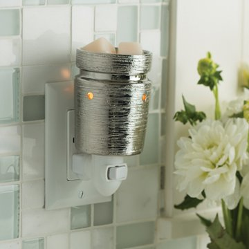Pluggable Fragrance Warmer- Brushed Chrome
