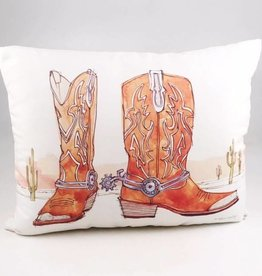 Western Boots Pillow 19x24