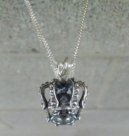 AG2089b Esther's Crown Tiny Necklace SS