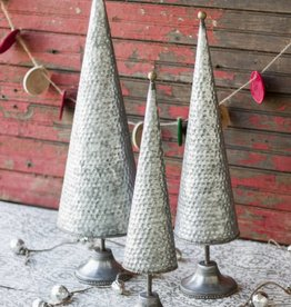 Zinc Topiaries w Beaded Brass Detail-