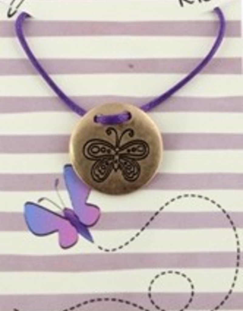 Purple Chickadee Necklace-