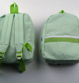 Oh Mint Seersucker Small Backpack-