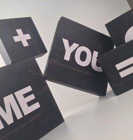 You + Me Wood Blocks
