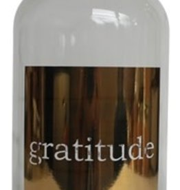 Gratitude Apothecary Jar With Gold Print