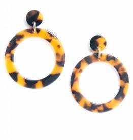 ZENZII Circle Drop Earrings-