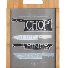 Chop Wood And Glass Cutting Board Set