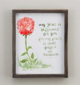 GLORY HAUS My Grace Is Sufficient Framed Board