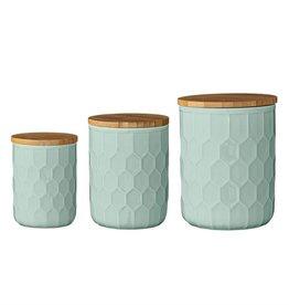BLOOMINGVILLE Mint Jars/Bamboo Top-