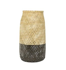 BLOOMINGVILLE Natural & Matte Black Bamboo w. Lantern